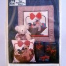 That Patchwork Place Log Cabin quilt blocks pattern (1985) - Bear In A Basket C-16