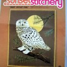 Vintage Sunset Stitchery Crewel Kit  - 2404 Great Snowy Owl