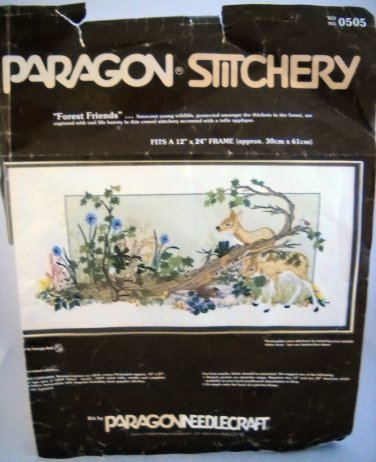 Vintage Paragon Crewel Embroidery Kit (1980) - Forest Friends 0505