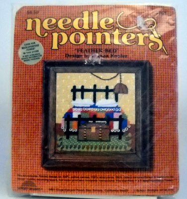 """Needlepointers Kit (1976) from Sunset Designs  - """"Feather Bed"""" #5761"""
