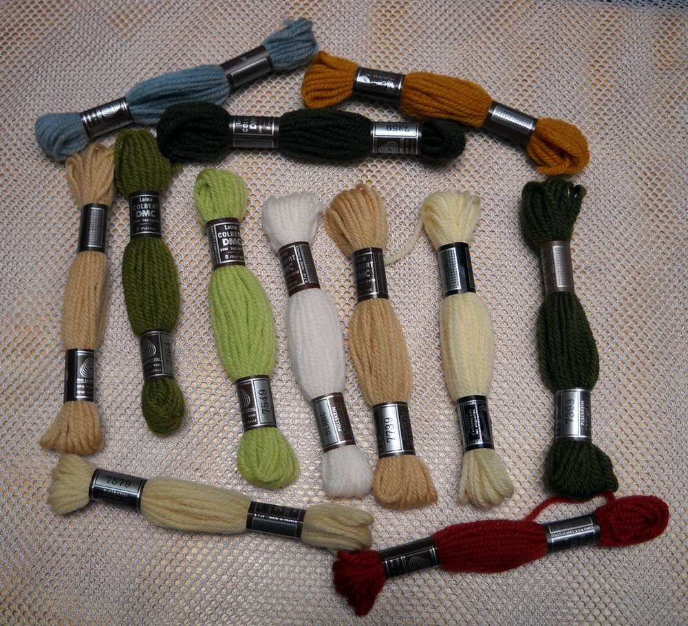 DMC Colbert Tapestry Wool 12 Skeins 8 meters/8.7 Yds Per Skein - assorted colors