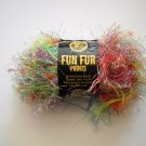Lion Brand Fun Fur Prints Yarn 57yd (52 meters) per 1-1/4 oz (40 g)skein -  rainbow color 210