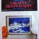 Vintage Avon Creative Needlecraft Crewel Embroidery Kit (1973)  - Country Snowscape