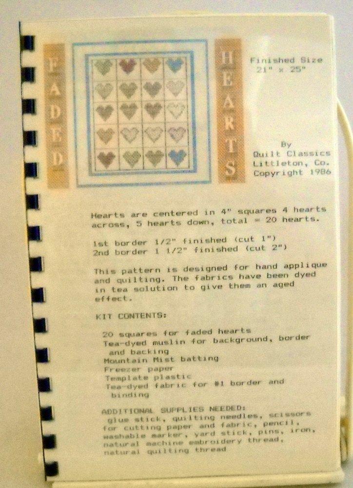 Quilt Classics Quilt Kit (1986) - Faded Hearts