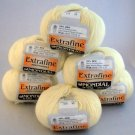 Mondial la lana Extrafine Yarn (175 meters) per 50 gr. skein - 6 skeins  color 500