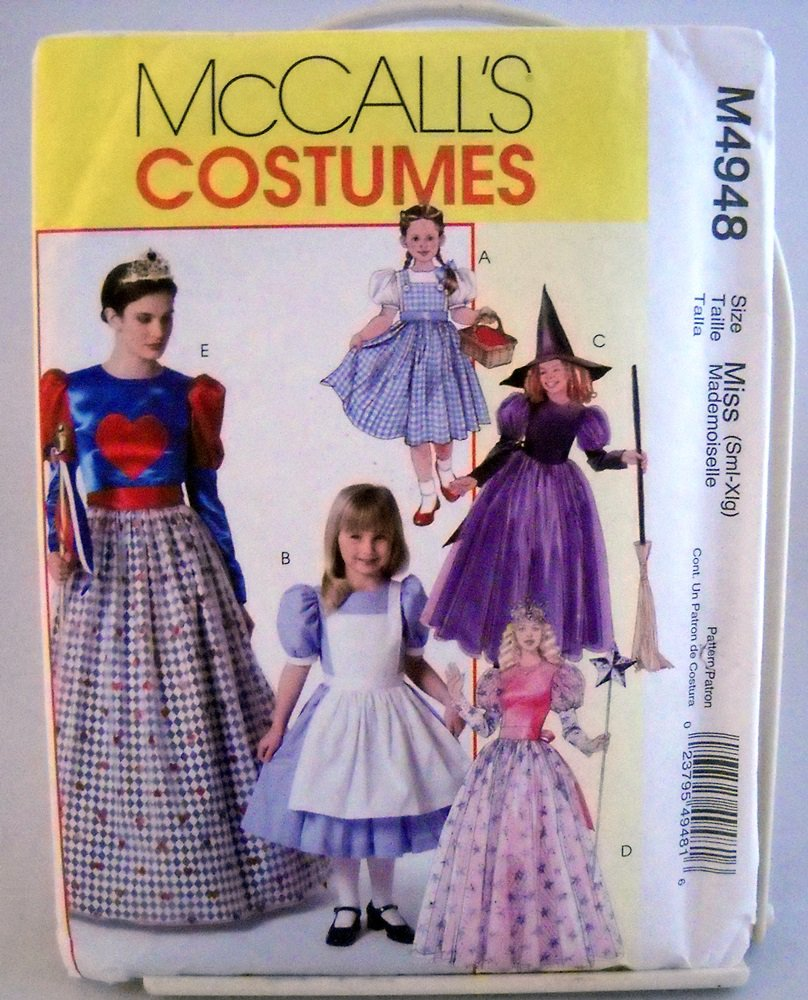 McCall's Costumes Pattern M4948 - (2005)  - misses' children's and girl's costumes