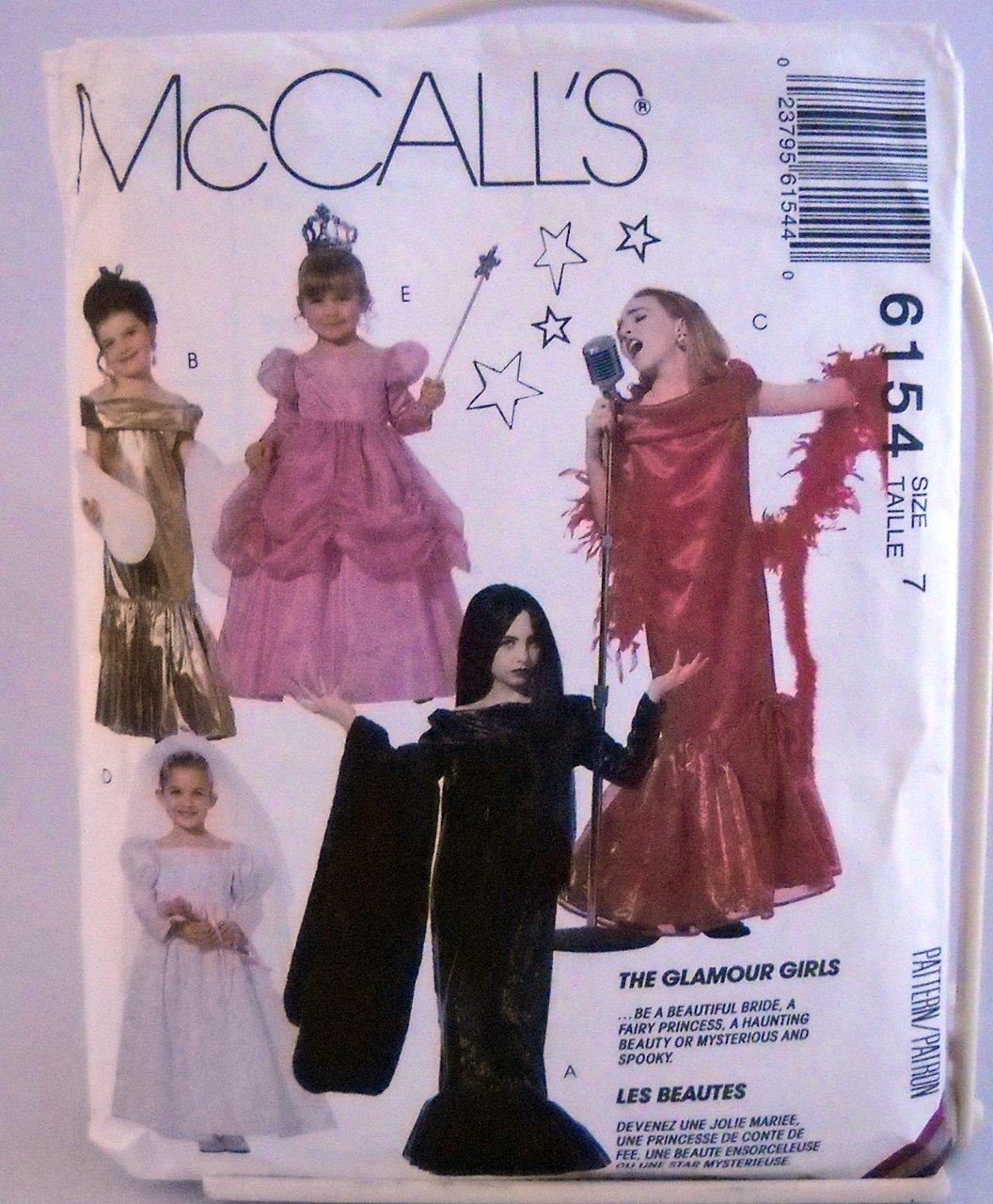 McCall's Costumes Pattern 6154 - (1992)  - Size girls' 7