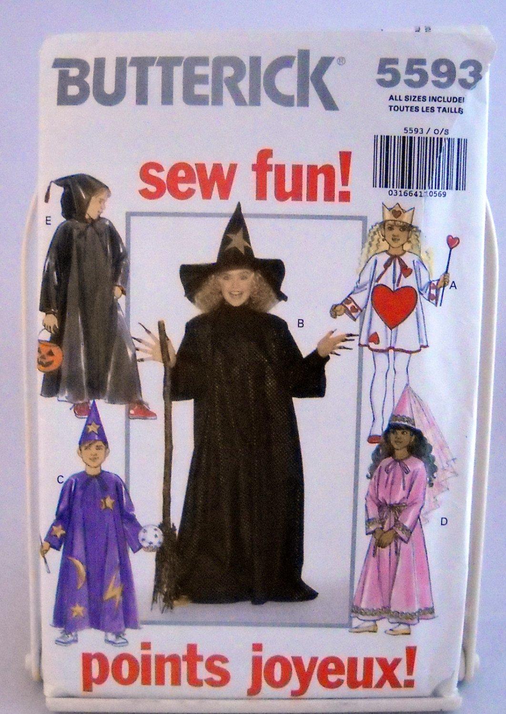 Butterick Children's/Boys'/Girls' Costumes Pattern 5593 - (1991)  - Size S,M,L,XL