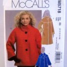 McCall's Pattern M5718 (2008) Size B5 (8-10-12-14-16) - Misses' and Women's Lined Jacket and Coat