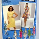 Simplicity Pattern 2588 - (2009) - Size D5 (4-6-8-10-12) - Dress with Neckline and Skirt Variations