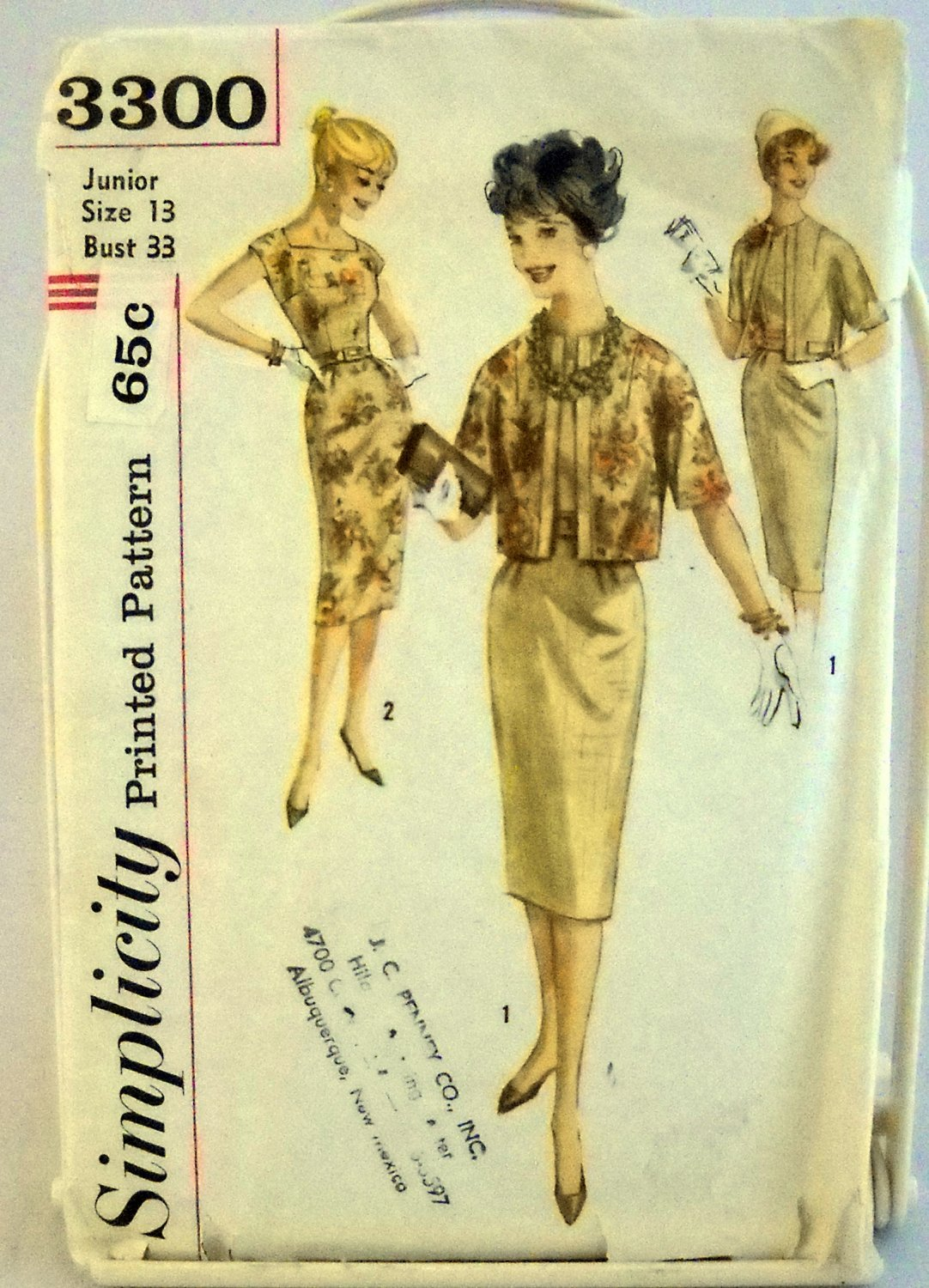 Simplicity Pattern 3300 - Junior 13 bust 33 - Dress and Jacket