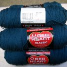 Red Heart Classic Yarn from Coats & Clark 3.5 oz (99 g) skein - Lot of 5 skeins color windsor blue