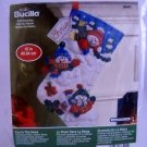 Plaid Bucilla Felt Applique Christmas Stocking Kit - Fun In The Snow 86441