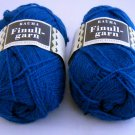 Finullgarn by Rauma 2 ply 50 g 176 m balls  - Lot of 2 balls color 484 teal