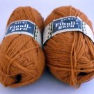 Finullgarn by Rauma 2 ply 50 g 176 m balls  - Lot of 2 balls color 434 rust
