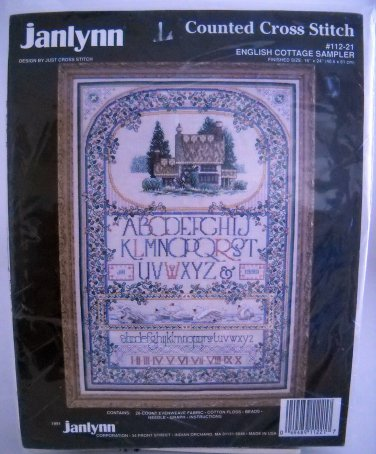 Janlynn Counted Cross Stitch Kit (Made in USA) - English Cottage Sampler #112-21