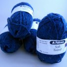 5 skeins Patons Soft Tweed  -  mermaid shade 00051 lot 027214