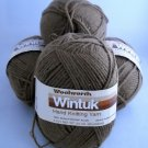 4 Skeins Wintuk by Woolworth 3-1/2 oz.,(99 g) 4 ply color nutmeg 10