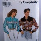 Simplicity Pattern 8262 - (1992) - Five Sizes Misses', Men's or Teen Boys' shirt
