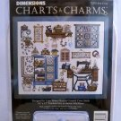 Dimensions Counted Cross Stitch Charts & Charms (1996 Made in USA) - Sew Cozy 72378