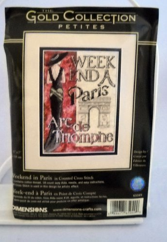 Dimensions The Gold Collection Counted Cross Stitch Kit (2006 Made in USA) - Weekend in Paris 65049