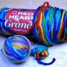 Red Heart Grande Yarn from Coats & Clark 4.5 oz (127 g) skein - Lot of 1 skein + ball color Wow 2937
