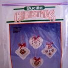 Bucilla Christmas Ornaments Counted Cross Stitch Kit - Roses & Lace 82746
