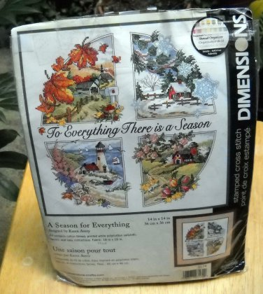Dimensions Stamped cross stitch kit (1998)  - 3174 A Season for Everything