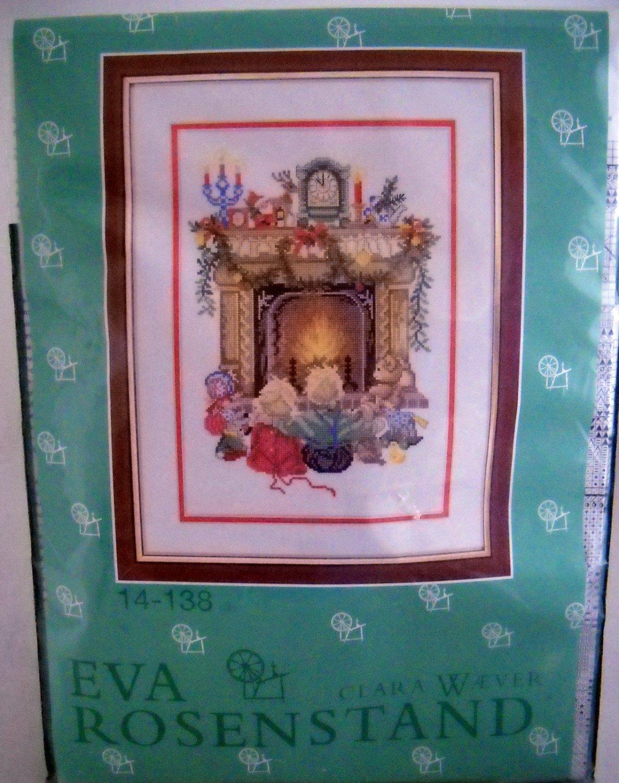 Eva Rosenstand Clara Waever Counted Cross Stitch Kit - Children by the fireside 14-138