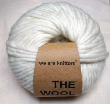 we are knitters The Wool Yarn 80 meters (200 gram) ball - Natural  SFN10