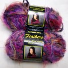 Caron Feathers 1.75 oz, 70 yd skein  - Lot of 2 skeins purple haze