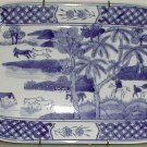 Blue and White Platter - B0007