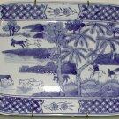 Blue and White Platter - B0007