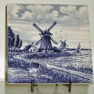 Blue and White Delft Tile - B0022