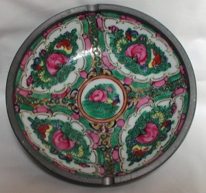Rose Medallion Ashtray - M0066