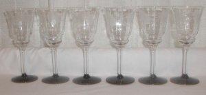 Set of Six Lovely Wine Glasses - M0043