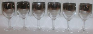 Set of Six Silver Wine Glasses - M0052