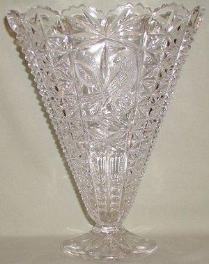 Hofbauer Byrde Crystal Large Fan Vase - CB0019