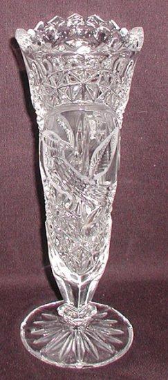 Hofbauer Byrde Crystal Footed Vase Cb0020