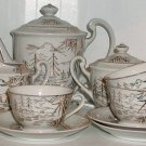 Gold and White Lithophane Tea Set - L0012