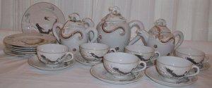 Lithophane Moriage Dragonware Collection - L0024