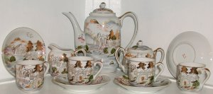 Kutani Lithophane Tea Set - L0043