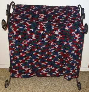 Hand Crocheted Afghan Pretty Open Work Style - CM006