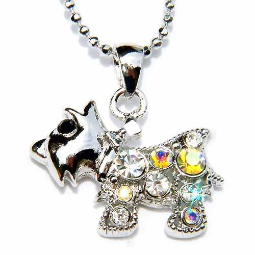 Scottish Terrier Swarovski Crystal Necklace