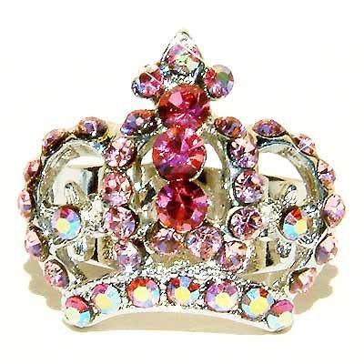 Pink Crown Swarovski Crystal Ring