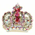 Pink Crown Swarovski Crystal Ring