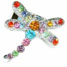 Rainbow Dragonfly Swarovski Crystal Ring