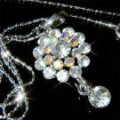 Clear Flower Swarovski Crystal Necklace