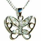 Cutout Butterfly Swarovski Crystal Necklace
