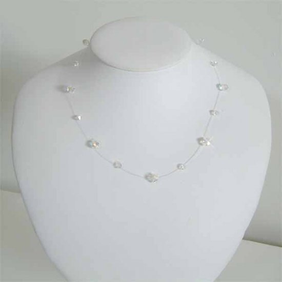 Floating Illusion Bridal Wedding Swarovski Crystal Necklace
